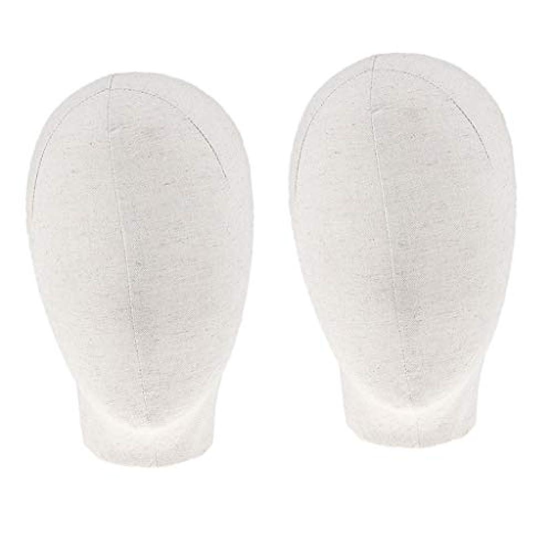 増幅するジャニス舌DYNWAVE マネキンヘッド キャンバスブロック 21インチ かつら 帽子 メガネ ディスプレイ ホルダー