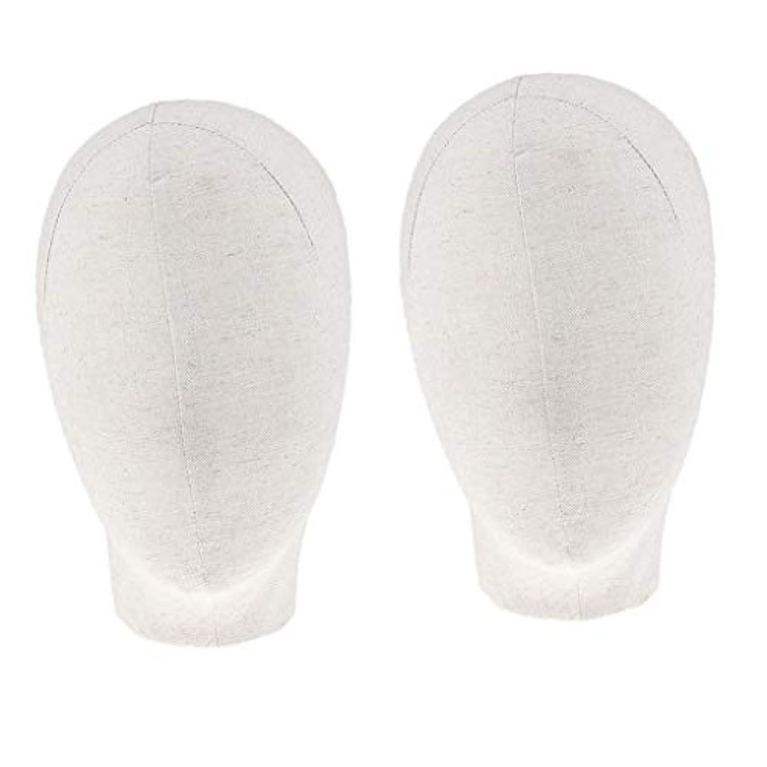 DYNWAVE マネキンヘッド キャンバスブロック 21インチ かつら 帽子 メガネ ディスプレイ ホルダー