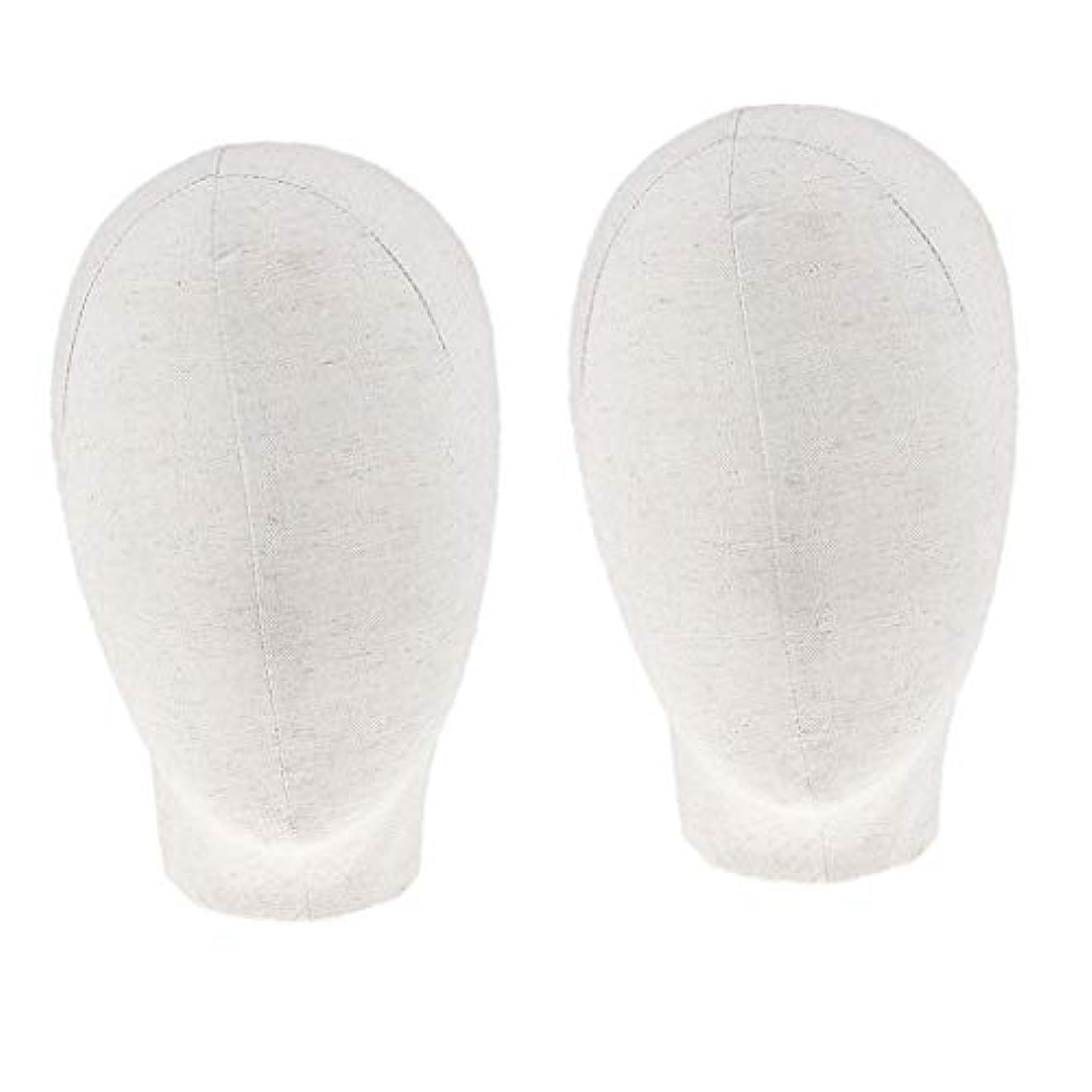 比喩改善エラーDYNWAVE マネキンヘッド キャンバスブロック 21インチ かつら 帽子 メガネ ディスプレイ ホルダー