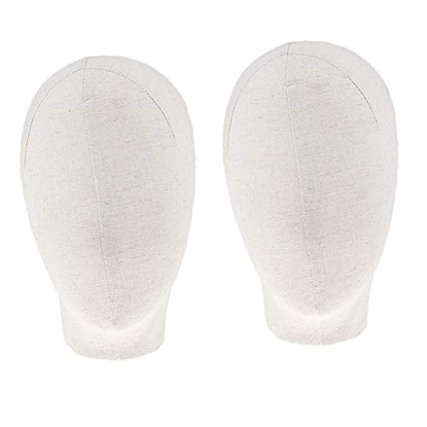 リムすごいかなりのDYNWAVE マネキンヘッド キャンバスブロック 21インチ かつら 帽子 メガネ ディスプレイ ホルダー