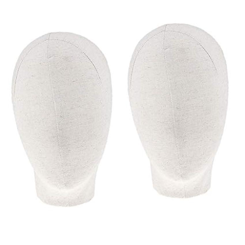 大人宿泊施設人道的DYNWAVE マネキンヘッド キャンバスブロック 21インチ かつら 帽子 メガネ ディスプレイ ホルダー