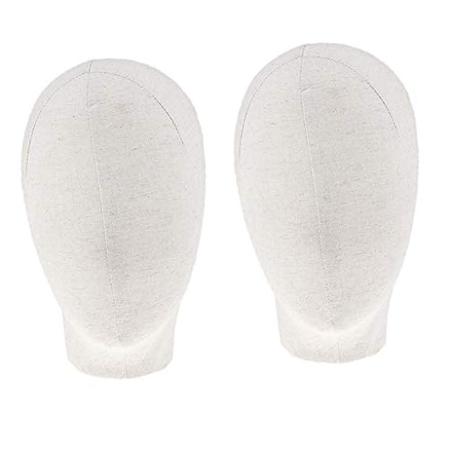縫う縁どこにでもDYNWAVE マネキンヘッド キャンバスブロック 21インチ かつら 帽子 メガネ ディスプレイ ホルダー
