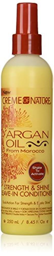 尾残るびっくりするCreme of Nature Argan Oil Conditioner Leave-In 250 ml (並行輸入品)