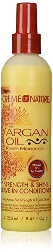 ウッズだらしない縮れたCreme of Nature Argan Oil Conditioner Leave-In 250 ml (並行輸入品)