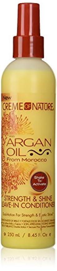 打ち上げる複雑検閲Creme of Nature Argan Oil Conditioner Leave-In 250 ml (並行輸入品)