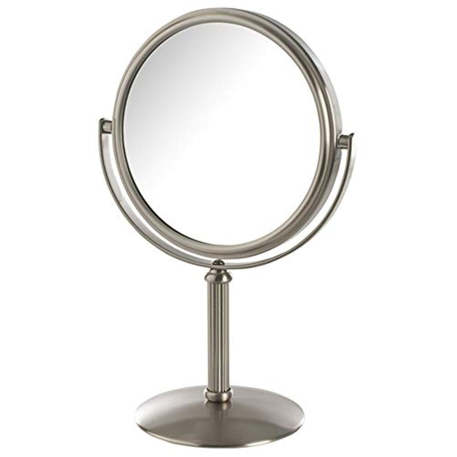 奴隷政権実用的Jerdon(ジェルドン) / MC105N (ニッケル) 拡大鏡 [鏡面 約14cm / 高さ 約25cm] 【5倍率】 卓上型テーブルミラー