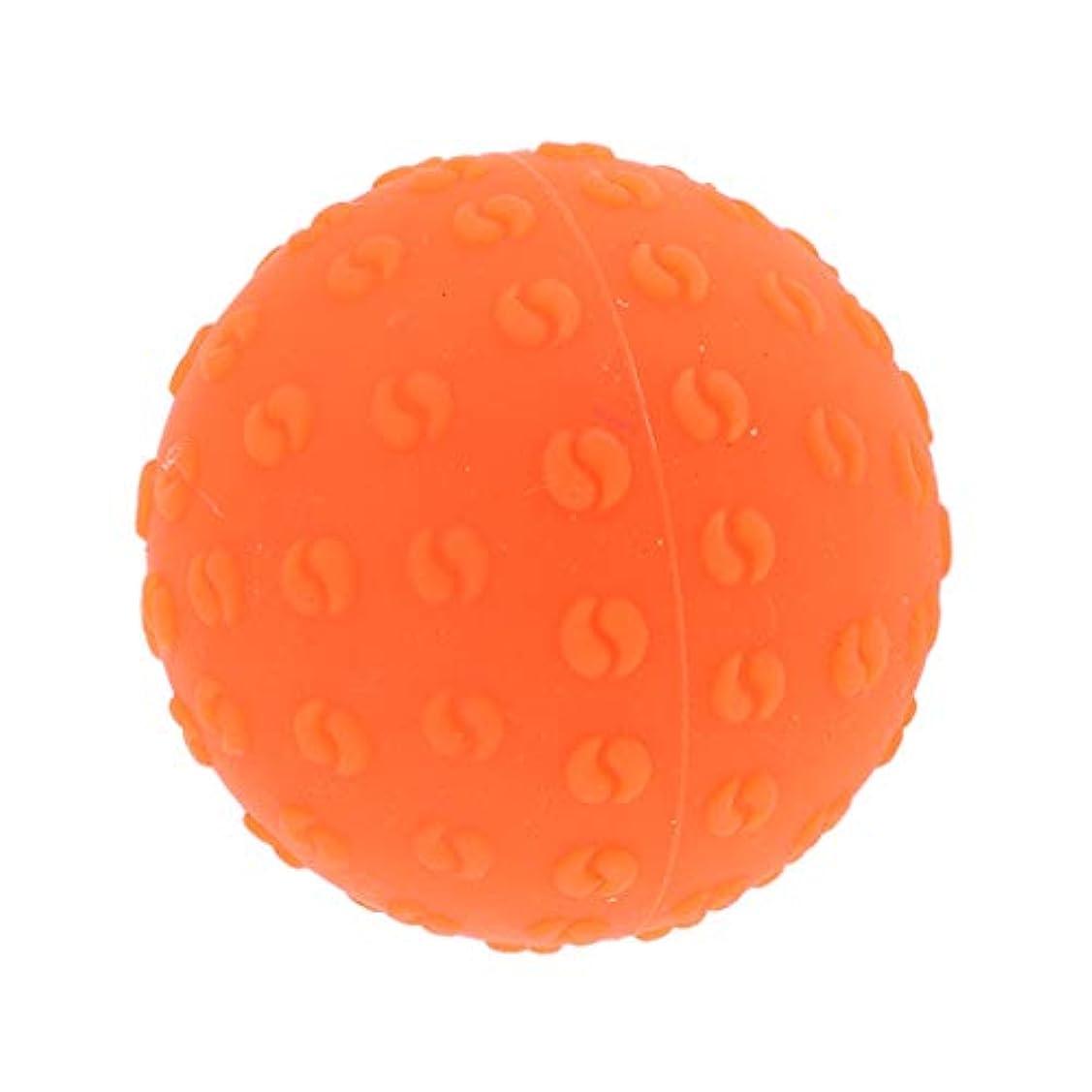 わかりやすい思想ログマッサージボール 指圧ボール シリコーン トリガーポイント 足底筋膜炎 ヨガ ツボ押しグッズ 全6色 - オレンジ, 説明のとおり