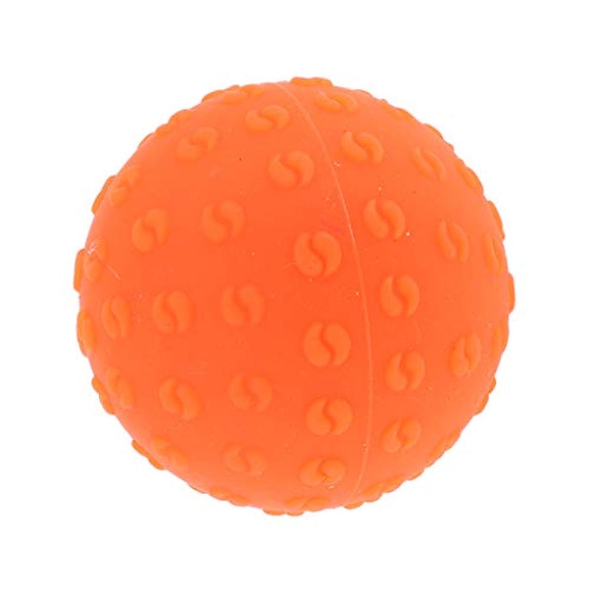ズームボタン鍔マッサージボール 指圧ボール シリコーン トリガーポイント 足底筋膜炎 ヨガ ツボ押しグッズ 全6色 - オレンジ, 説明のとおり