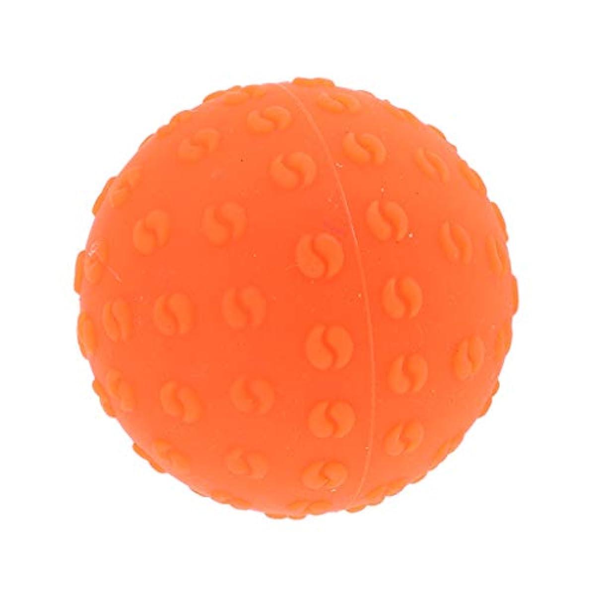 寛容な有益やけどFenteer マッサージボール 指圧ボール シリコーン トリガーポイント 足底筋膜炎 ヨガ ツボ押しグッズ 全6色 - オレンジ, 説明のとおり