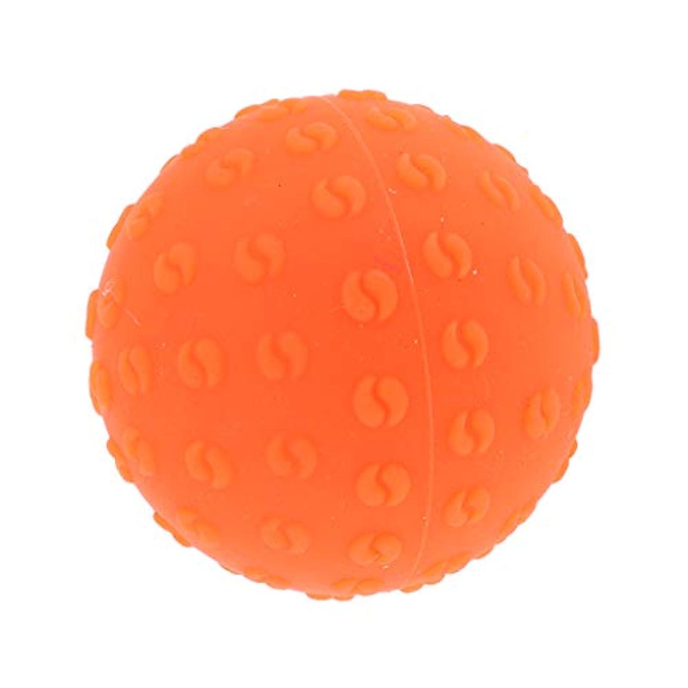 悲観的衛星深めるFenteer マッサージボール 指圧ボール シリコーン トリガーポイント 足底筋膜炎 ヨガ ツボ押しグッズ 全6色 - オレンジ, 説明のとおり