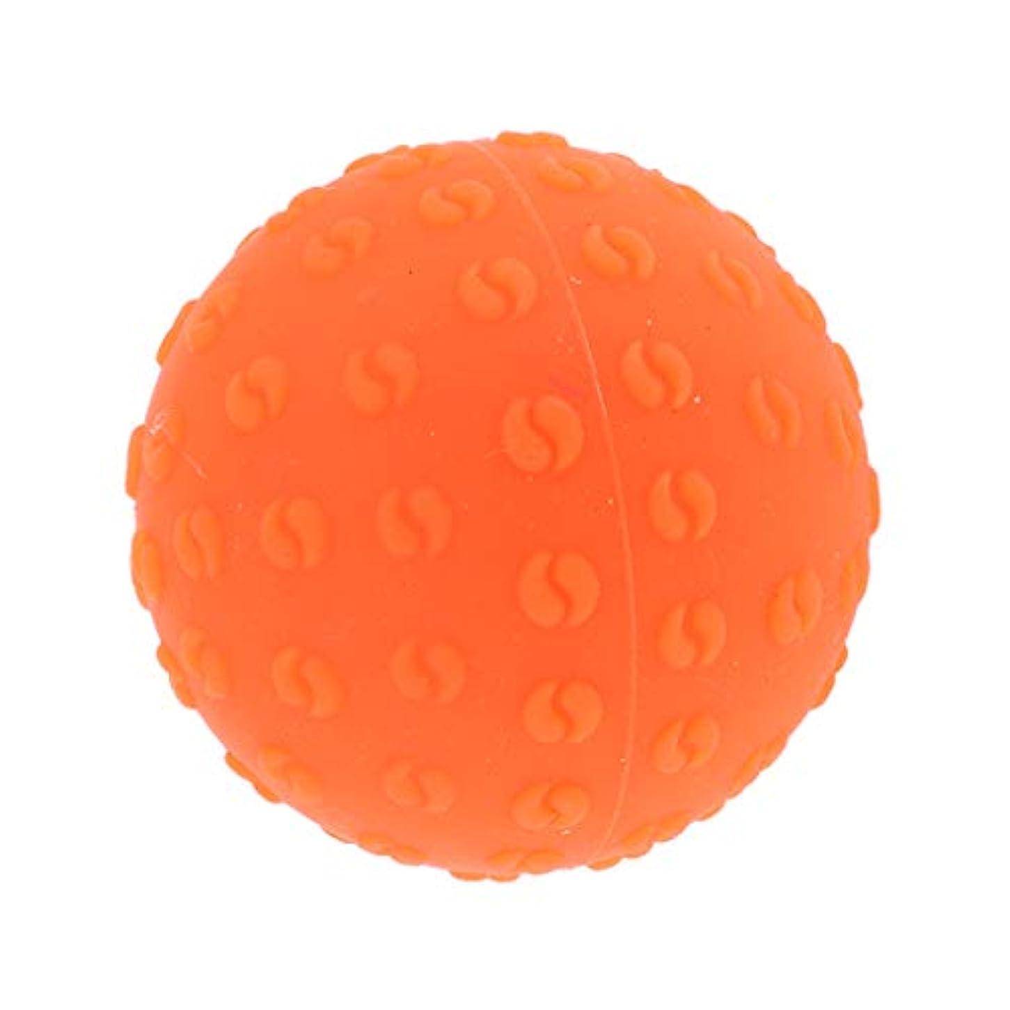 永遠の発動機外向きFenteer マッサージボール 指圧ボール シリコーン トリガーポイント 足底筋膜炎 ヨガ ツボ押しグッズ 全6色 - オレンジ, 説明のとおり