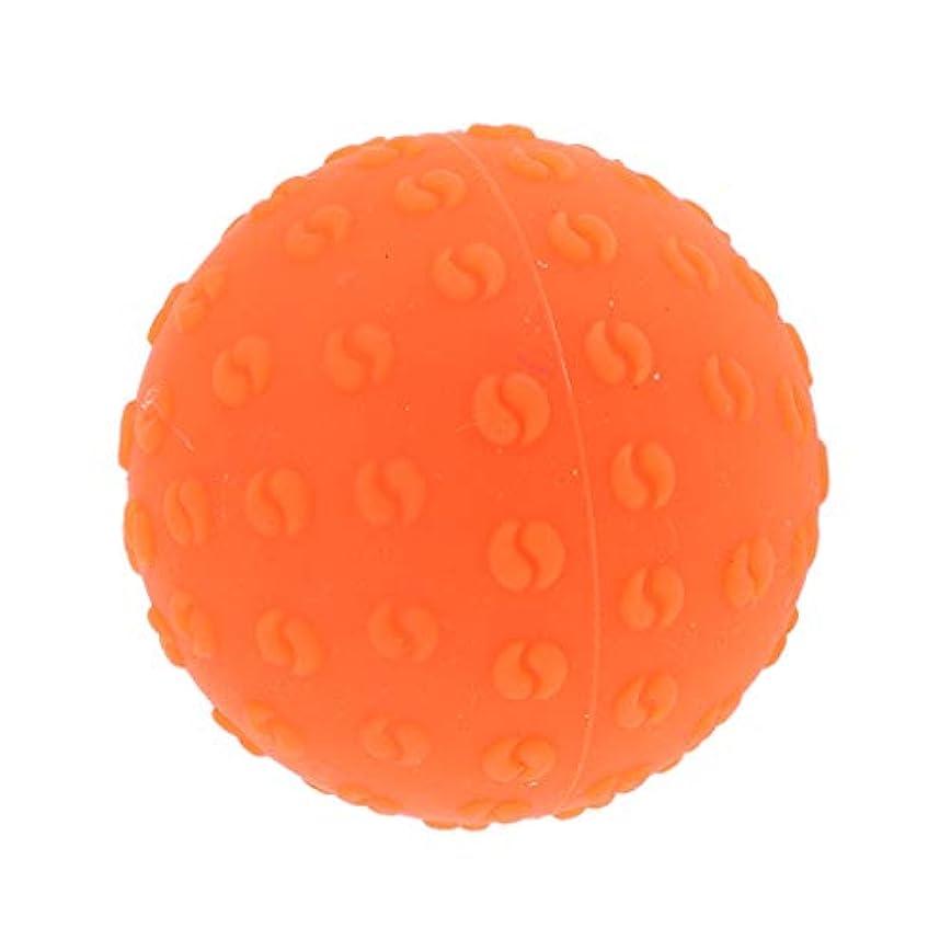 修理工外国人商人マッサージボール 指圧ボール シリコーン トリガーポイント 足底筋膜炎 ヨガ ツボ押しグッズ 全6色 - オレンジ, 説明のとおり