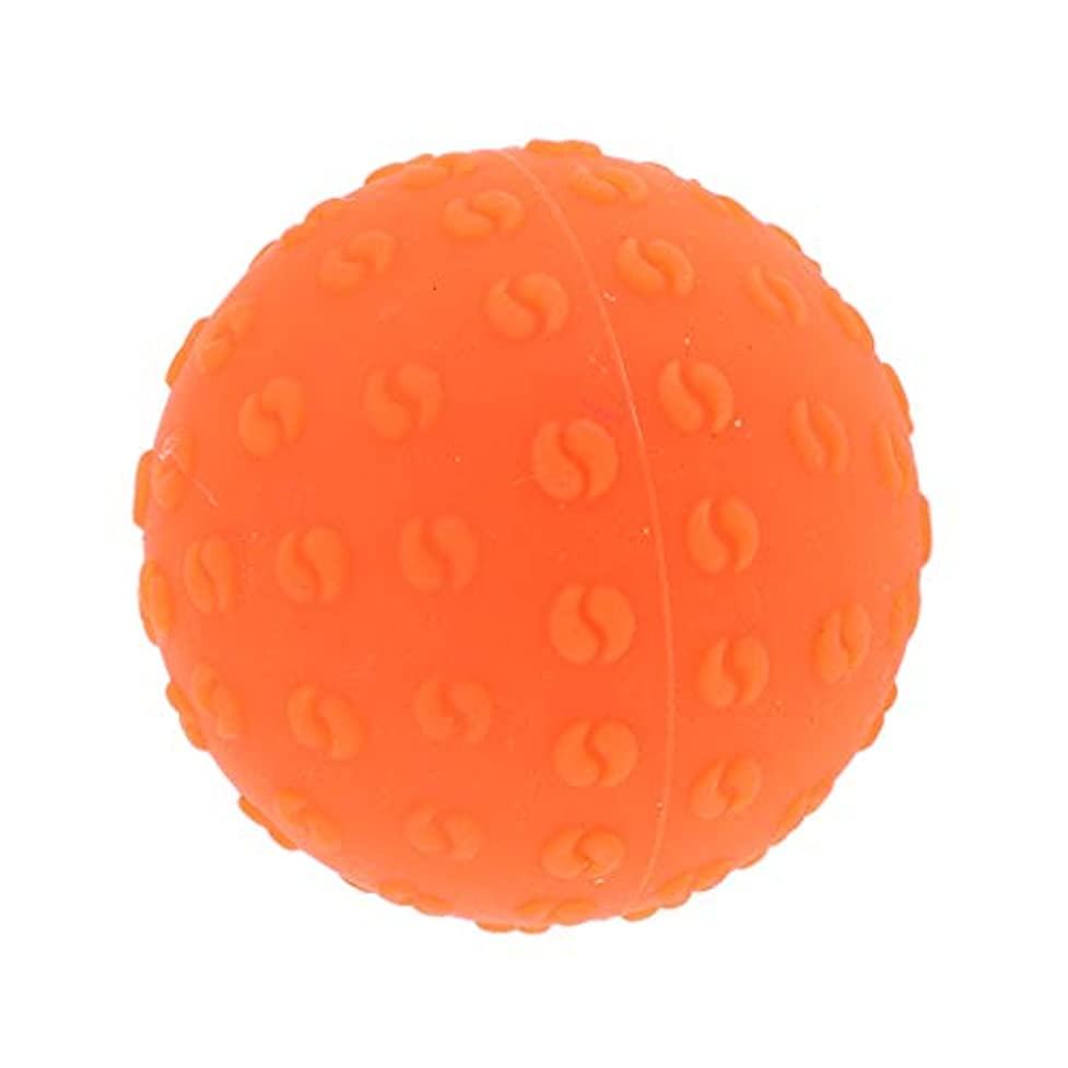 捧げる移住する経営者マッサージボール 指圧ボール シリコーン トリガーポイント 足底筋膜炎 ヨガ ツボ押しグッズ 全6色 - オレンジ, 説明のとおり