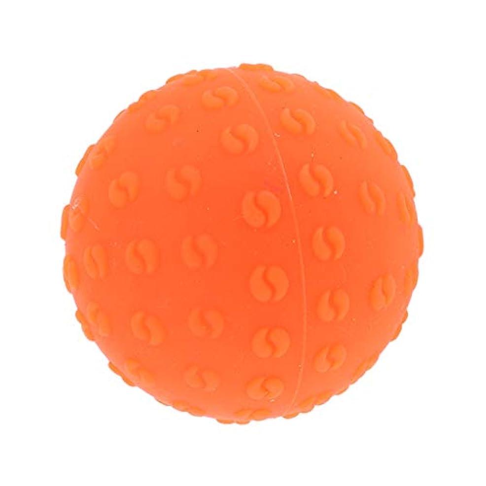 ネコトラックひねくれたマッサージボール 指圧ボール シリコーン トリガーポイント 足底筋膜炎 ヨガ ツボ押しグッズ 全6色 - オレンジ, 説明のとおり