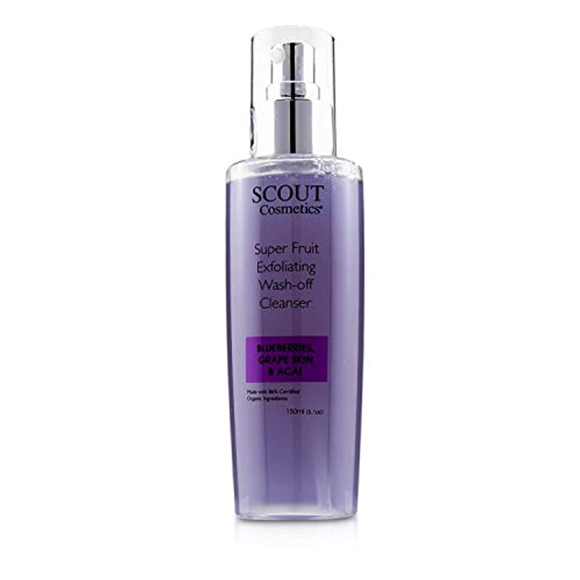 SCOUT Cosmetics Super Fruit Exfoliating Wash-Off Cleanser with Blueberries, Grape Skin & Acai 150ml/5.1oz並行輸入品