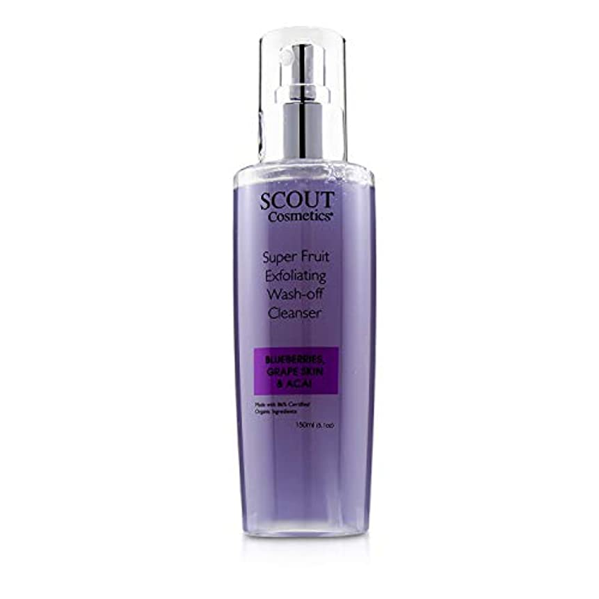 悪意のあるジャンクションスマッシュSCOUT Cosmetics Super Fruit Exfoliating Wash-Off Cleanser with Blueberries, Grape Skin & Acai 150ml/5.1oz並行輸入品