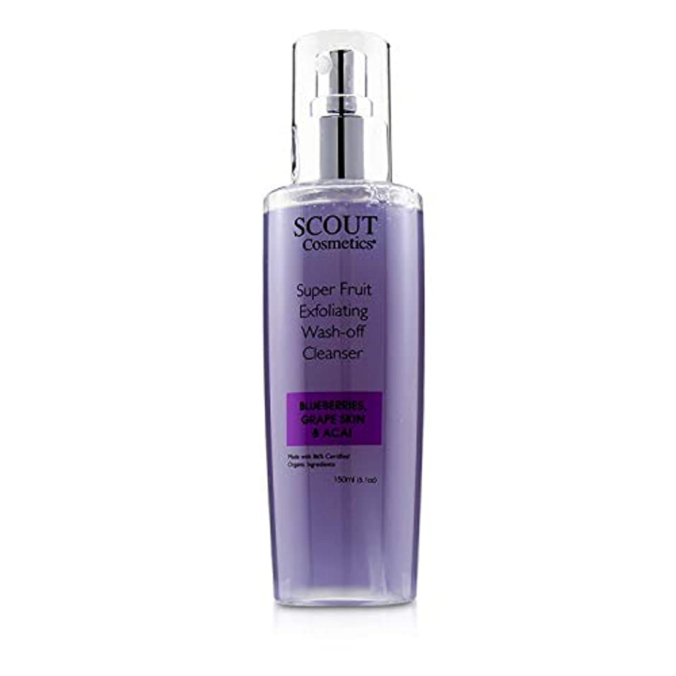 降伏初心者話SCOUT Cosmetics Super Fruit Exfoliating Wash-Off Cleanser with Blueberries, Grape Skin & Acai 150ml/5.1oz並行輸入品