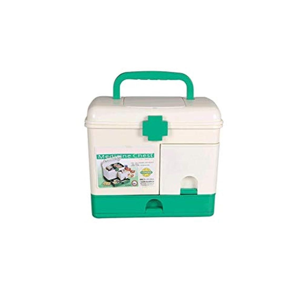 聞きますメロディー靴下家庭用薬箱プラスチック大型応急処置箱多層医療箱携帯用薬収納ボックス CQQO (Color : White)