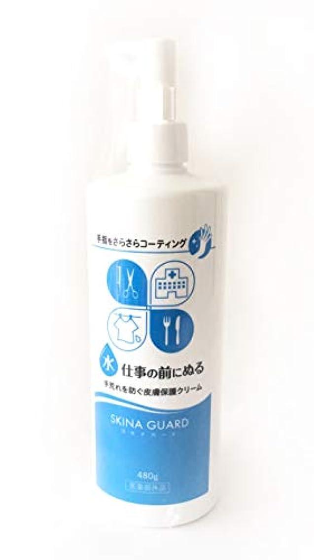 でも駅氷スキナガード 480ml ポンプボトル(スキナバリア ハンドバリアプロA) SKINA GUARD 大木製薬 医薬部外品
