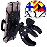 XYZ Boat Supplies Cell Phone Mount/Holder for Motorcycle/Bike Handlebars/Boat, iPhone, Samsung, Smart Phone,