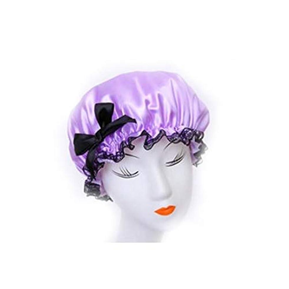 役員楽観はがきKYK キャップシャワー、女性はすべての髪の長さと厚さの女性のためのキャップデラックスシャワーキャップシャワー - 防水やカビ耐性、再利用可能なシャワーのキャップを。 (Color : Pink)