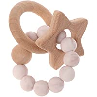 Dabixx シリコーン?テザー Pentagram Baby Teetherシリコンリング 赤ちゃんの看護玩具噛むおもちゃの歯ぬいぐるみ玩具 - 4#