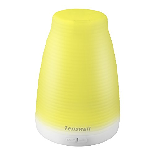 Tenswall アロマディフューザー 加湿器 超音波式 多色変換LED付き アロマテラピー 空焚き防止機能搭載 部屋 会社 ヨガなど用 103
