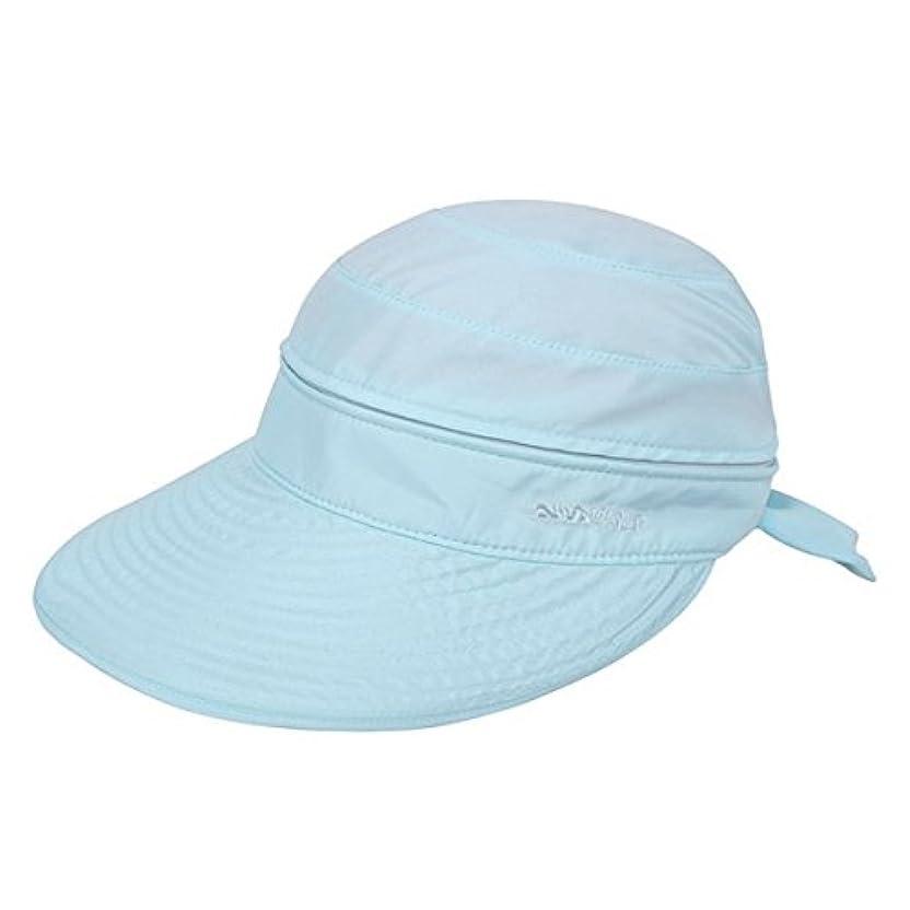 実現可能ムス受け入れるLabanca Womens Sun Hatボウタイサンバイザーワイドつば2 in 1夏太陽帽子バイザー