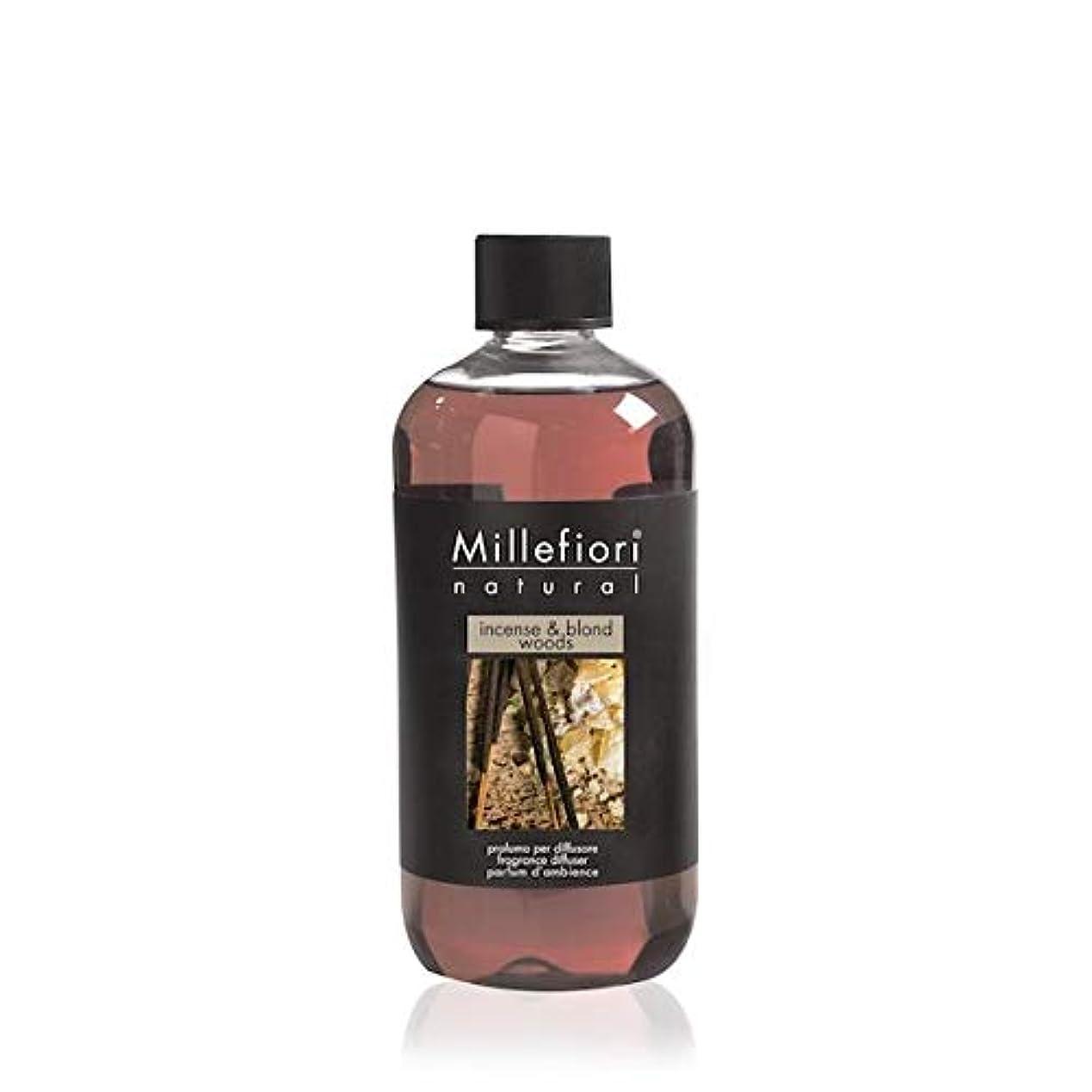 スロープ説教写真を撮るミッレフィオーリ(Millefiori) Natural インセンス&ブロンドウッズ(INCENSE & BLOND WOODS) 交換用リフィル500ml [並行輸入品]