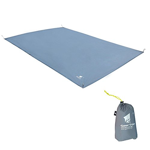 GEERTOP® 4~5人 キャンピング マット キャンピング フロアマット ピクニックパッド 防水 テントシート 300cm * 220cm(グレー)
