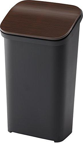 リス ゴミ箱 smooth プッシュダストボックス20 スリム 20L ウッド