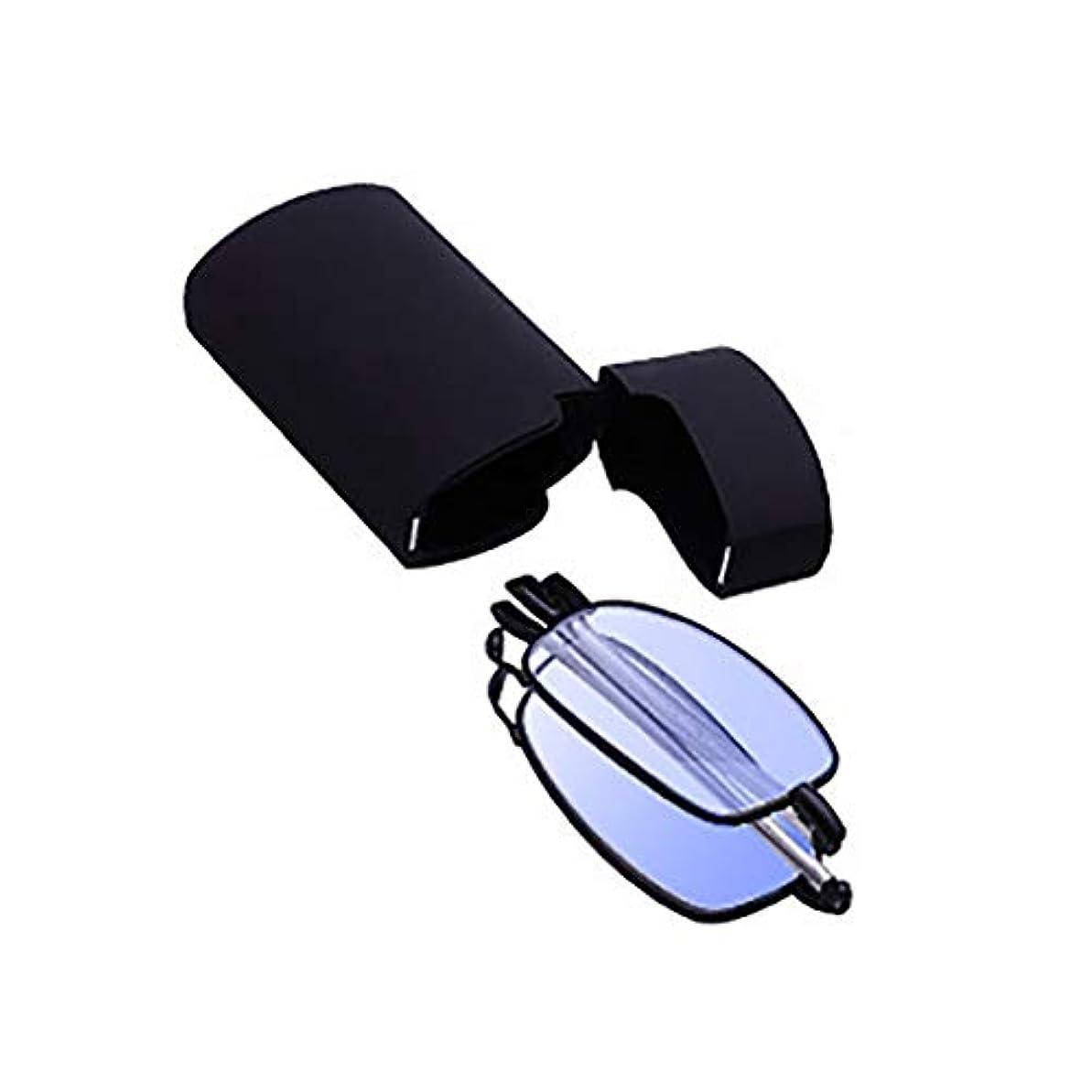 困難批判する保険ユニセックスメタル老眼鏡、コンパクトアンチブルーライト、折りたたみ式伸縮シニアグラス、Hd樹脂レンズ、3色
