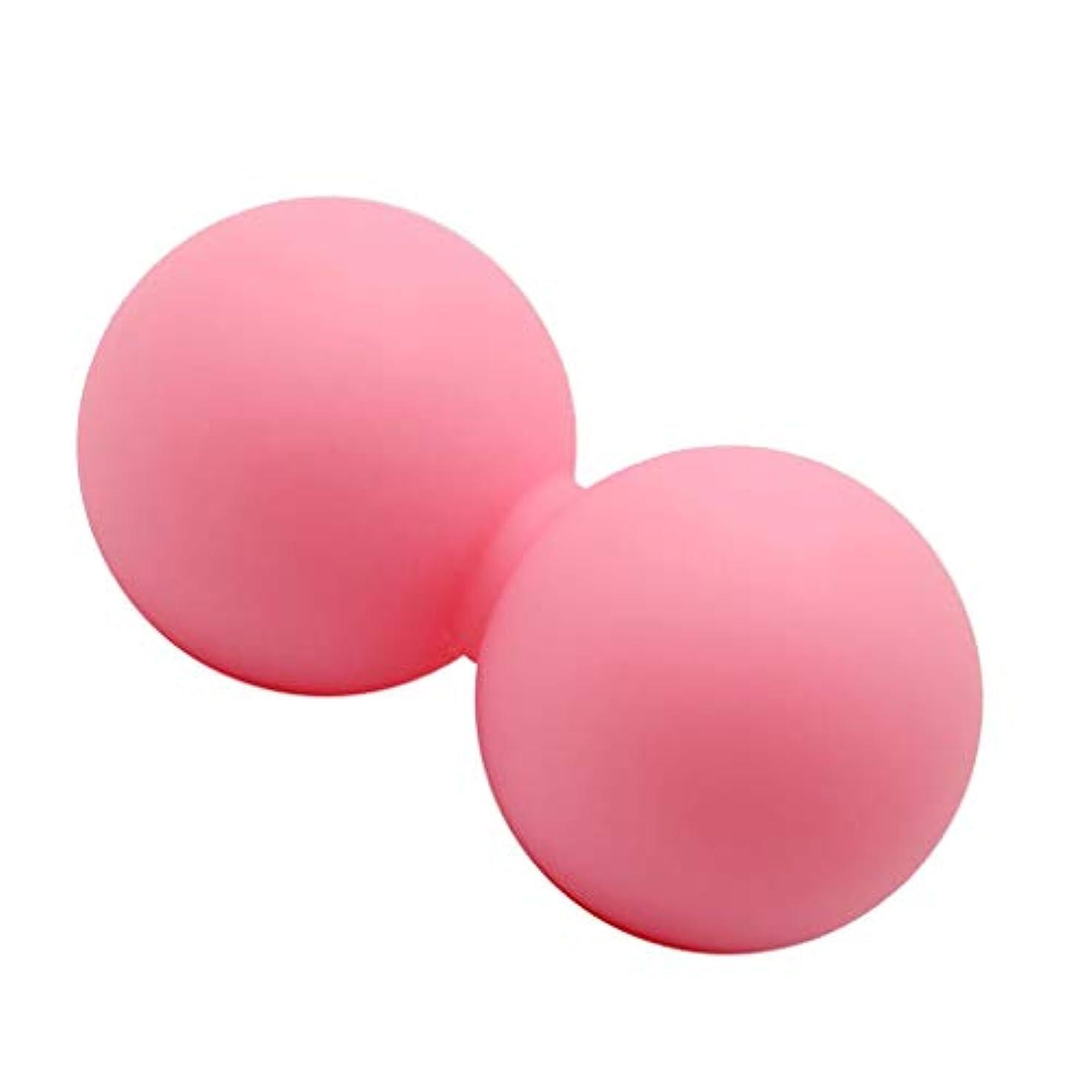 神経ウイルス指導するマッサージボール ピーナッツ シリコン 足 足首 腕 首 背中 ボディマッサージ ピンク