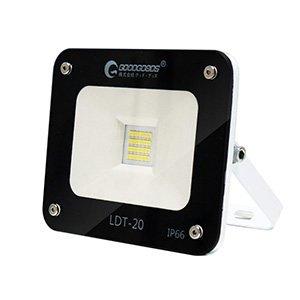 GOODGOODS LED投光器 20W 200W相当 薄型 作業灯 昼光色 2600LM 広角 防水 屋外照明 LDT-20