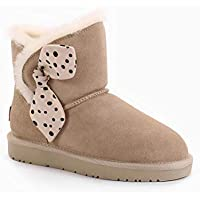 OZWEAR UGG Natalie Bow Boots (Water Resistant) 2 Colours OB450