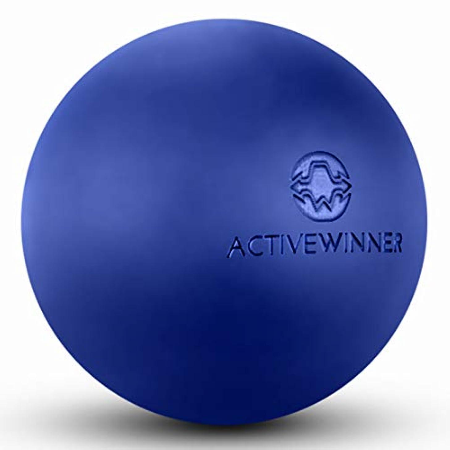 止まる宇宙船ボタンActive Winner マッサージボール トリガーポイント (ネイビー) ストレッチボール 筋膜リリース トレーニング 背中 肩こり 腰 ふくらはぎ 足 ツボ押し