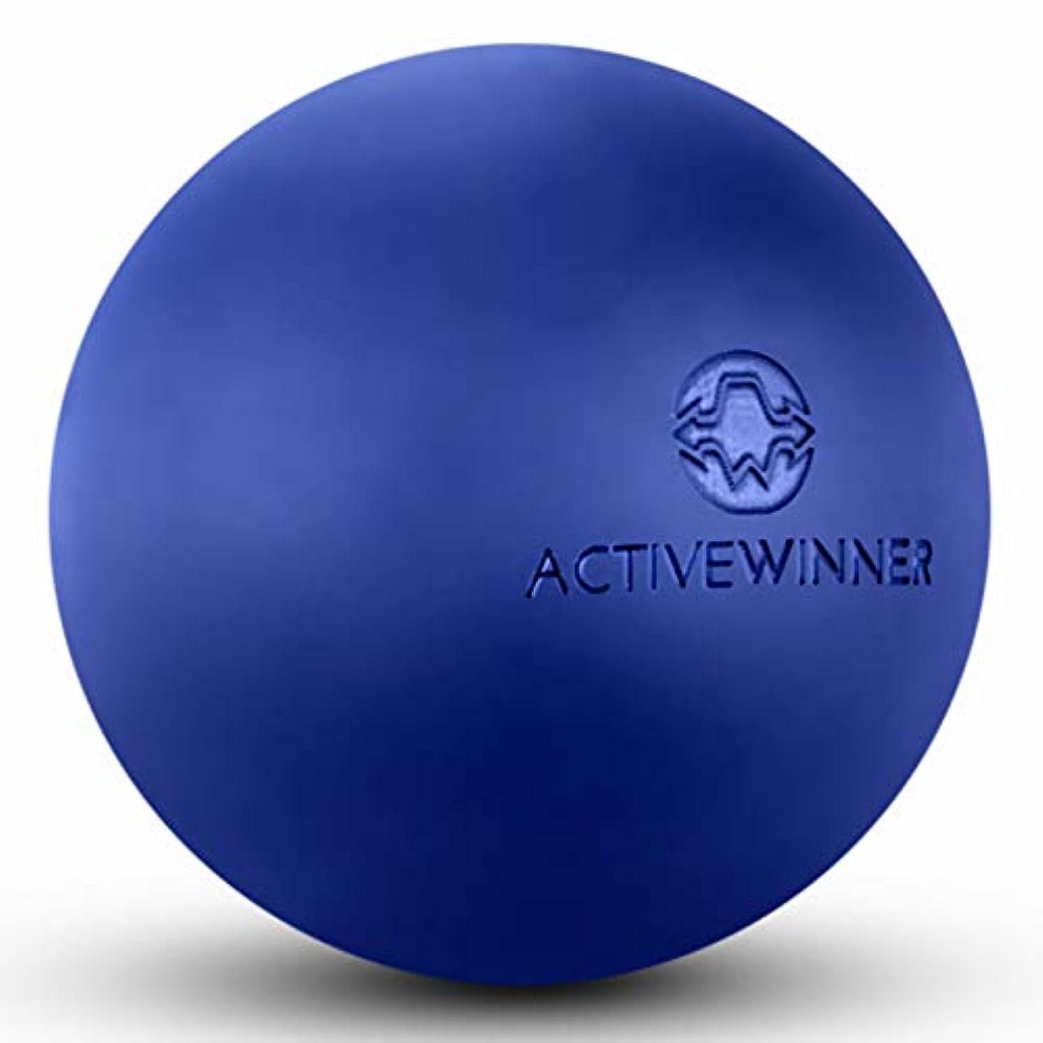 レベル肩をすくめる十億Active Winner マッサージボール トリガーポイント (ネイビー) ストレッチボール 筋膜リリース トレーニング 背中 肩こり 腰 ふくらはぎ 足 ツボ押し