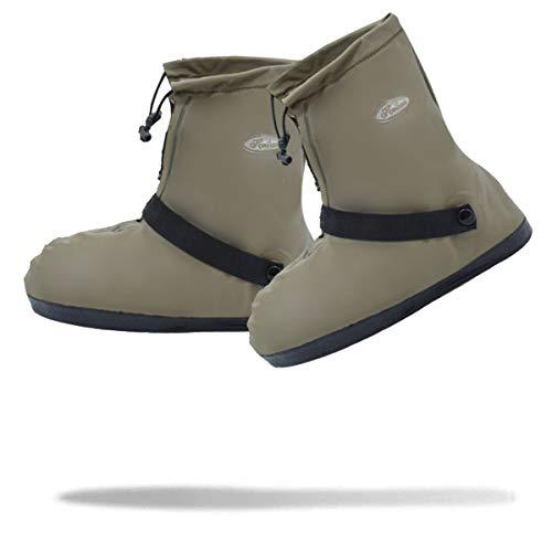 [Frelaxy] シューズカバー 防水 雨よけ 靴カバー 6サイズ(S -3XL) 5色 四つの防水設計 滑り止め 通勤通学 自転車用 耐久性 男女兼用 L (24-25cm), ブラウン