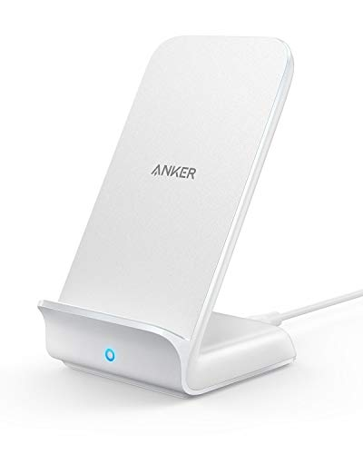 Anker PowerWave 7.5 Stand (5W / 7.5W / 10W Qi ワイヤレス急速充電器) iPhone XS/XS Max/XR/X / 8 / 8 Plus、Galaxy S9 / S9+ / S8 / S8+、その他Qi対応機種 各種対応(ホワイト)