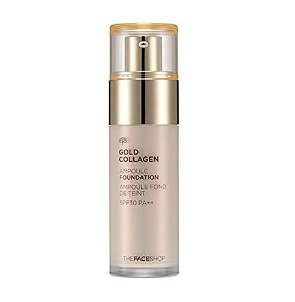 有毒な参加者トライアスロン.ザ·フェイスショップ ゴールドコラーゲンアンプルファンデーションSPF30 PA +++ 40ml The Face Shop Gold Collagen Ampoule Foundation [海外直送品] (V201 アプリコットベージュ)
