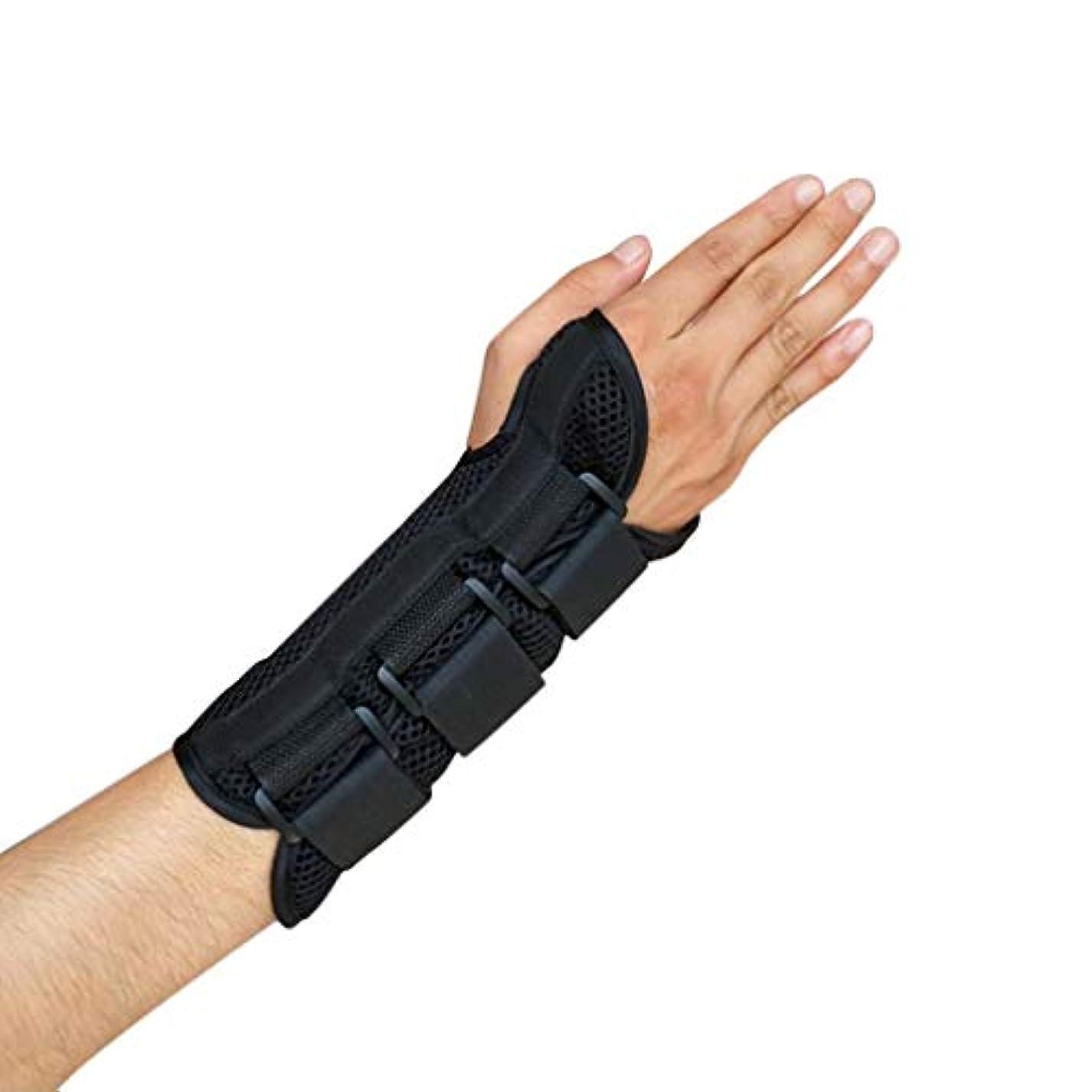 旋律的肌ディレクター手根管手首ブレースサポート捻Sp前腕スプリントバンドストラップ保護-Rustle666