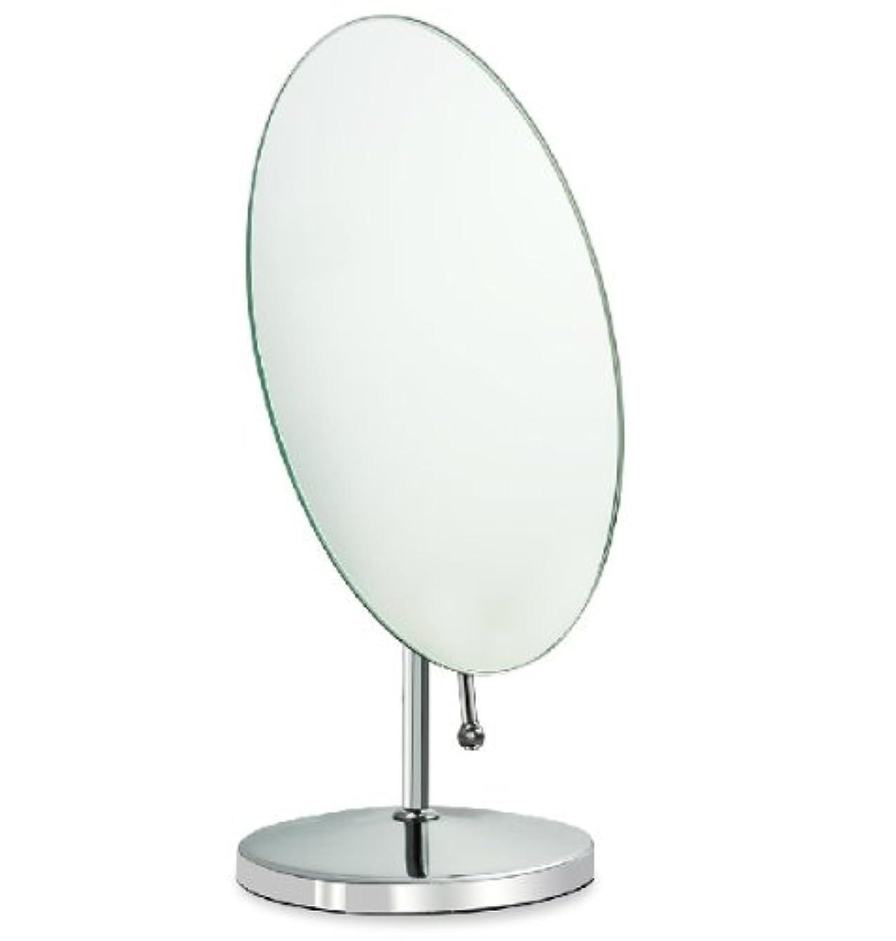 ニンニクスカリーゴール鏡 卓上鏡 化粧鏡 スタンドミラー 全方向可動式 取っ手付き鏡 大きめな楕円形