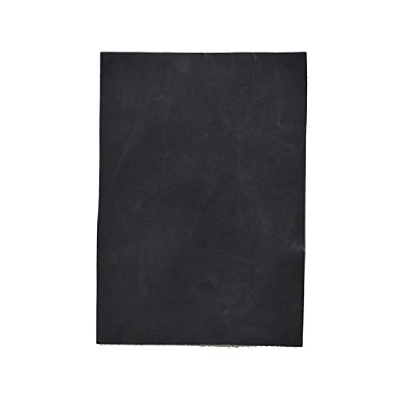 入植者スチール歩道TOKEN トーケン レザークラフト 材料 皮 革 日本産 山羊革 ゴード ワックス加工 マッド レザー 厚さ 約1.0mm?1.4mm (BLACK, B4)