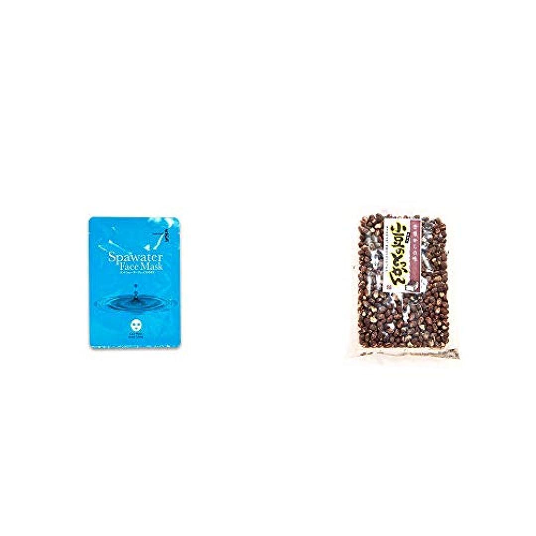 インフルエンザ思い出嫌な[2点セット] ひのき炭黒泉 スパウォーターフェイスマスク(18ml×3枚入)・小豆のとっかん(150g)