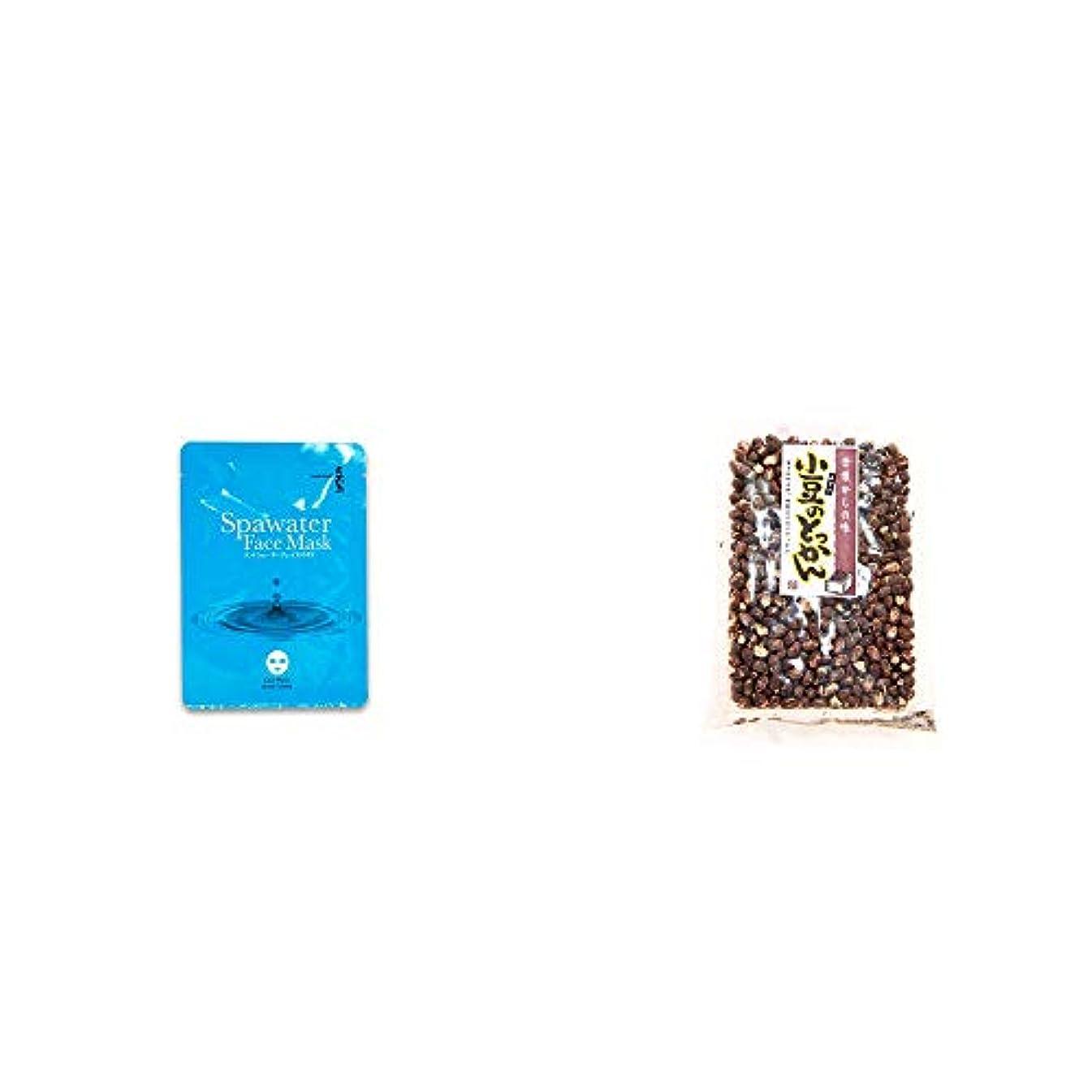 バー酸化物女の子[2点セット] ひのき炭黒泉 スパウォーターフェイスマスク(18ml×3枚入)?小豆のとっかん(150g)