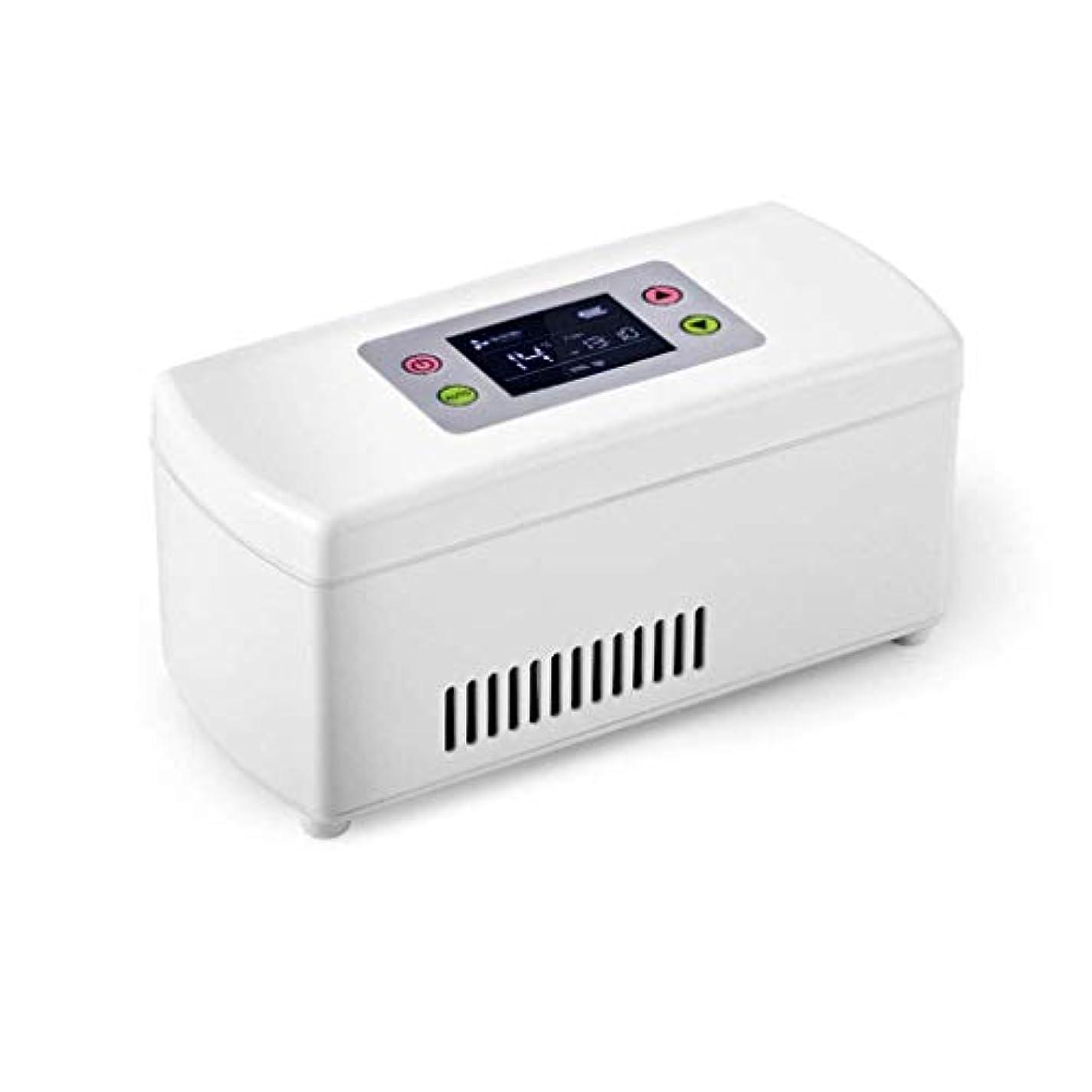 お互い順応性枯渇するインスリンクーラー、ポータブルインスリン冷蔵ボックス、ミニドラッグストレージ冷蔵庫、自動車および家庭用の2-8℃のインスリンクーラートラベルケース(WYJJJJJ)