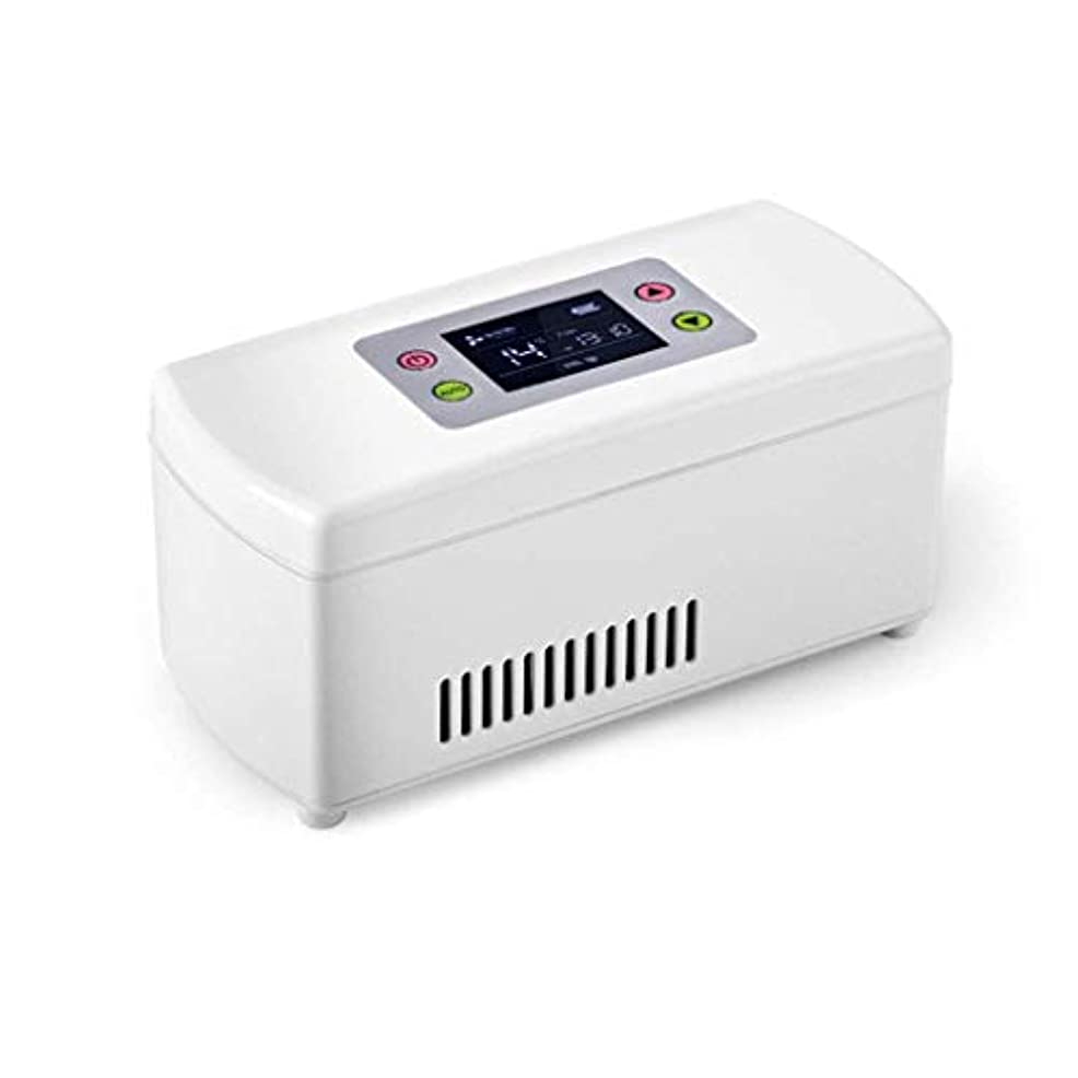 手配するピービッシュ剪断インスリンクーラー、ポータブルインスリン冷蔵ボックス、ミニドラッグストレージ冷蔵庫、自動車および家庭用の2-8℃のインスリンクーラートラベルケース(WYJJJJJ)