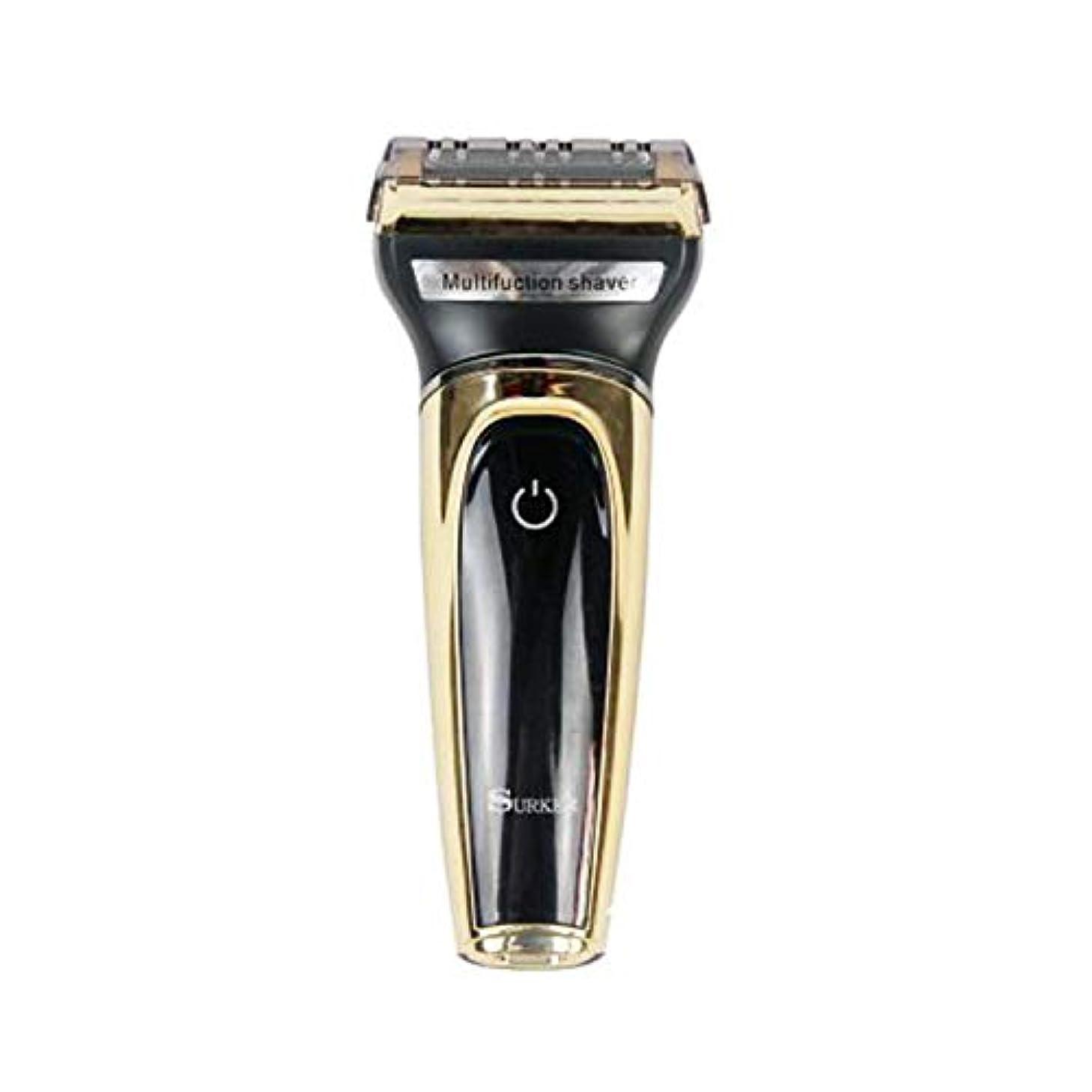 スリッパバーストエステートシェーバー 電動シェーバー メンズ 電気シェーバー 髭剃り 3枚刃 一台四役 水洗い可 お風呂剃り可 髭剃り USB 快速充電 敏感肌用モデル LEDディスプレイ 乾湿両用 鼻毛剃りなど