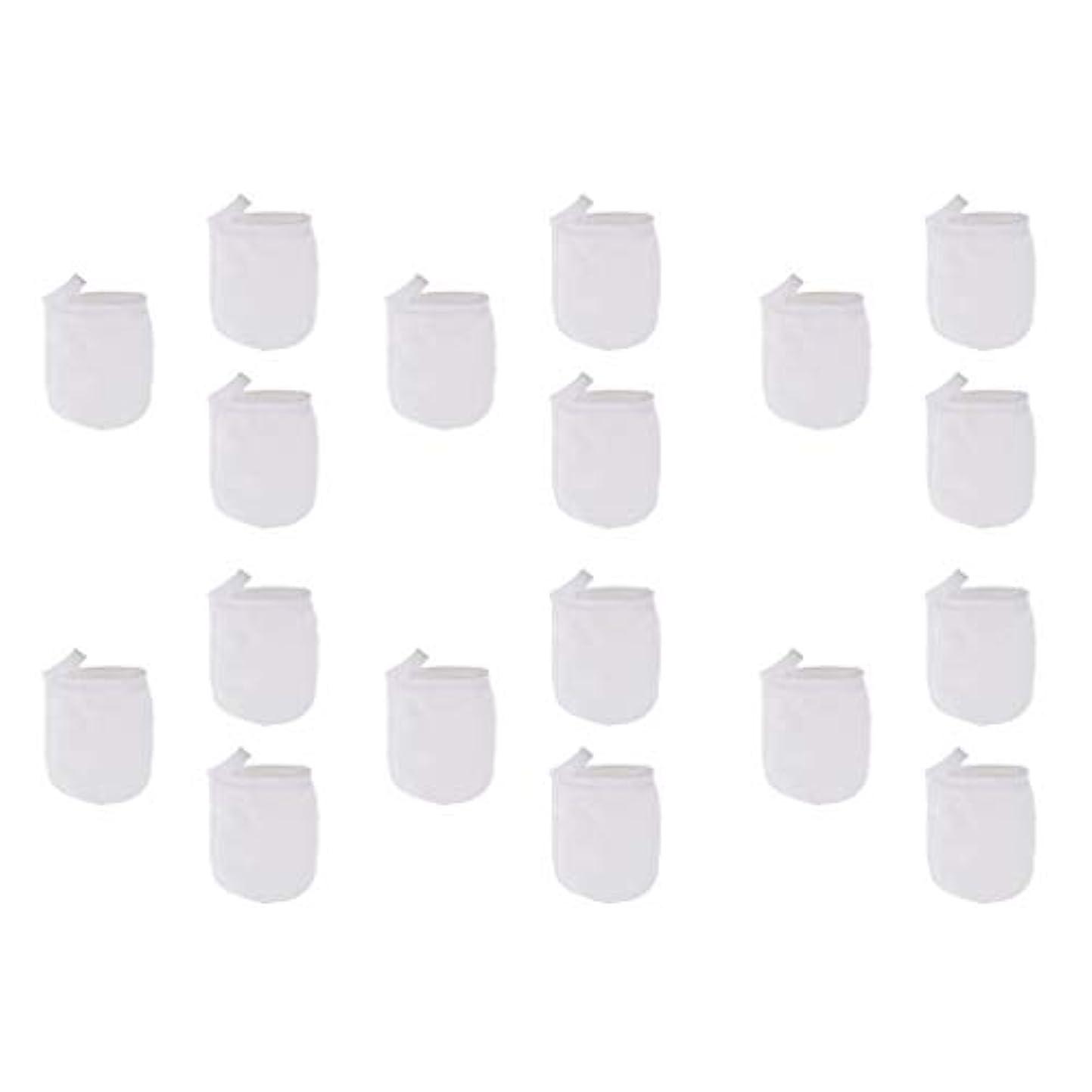 配る波紋データベース洗顔手袋 洗顔グローブ クレンジンググローブ メイク落とし手袋 マイクロファイバー 約18個パック
