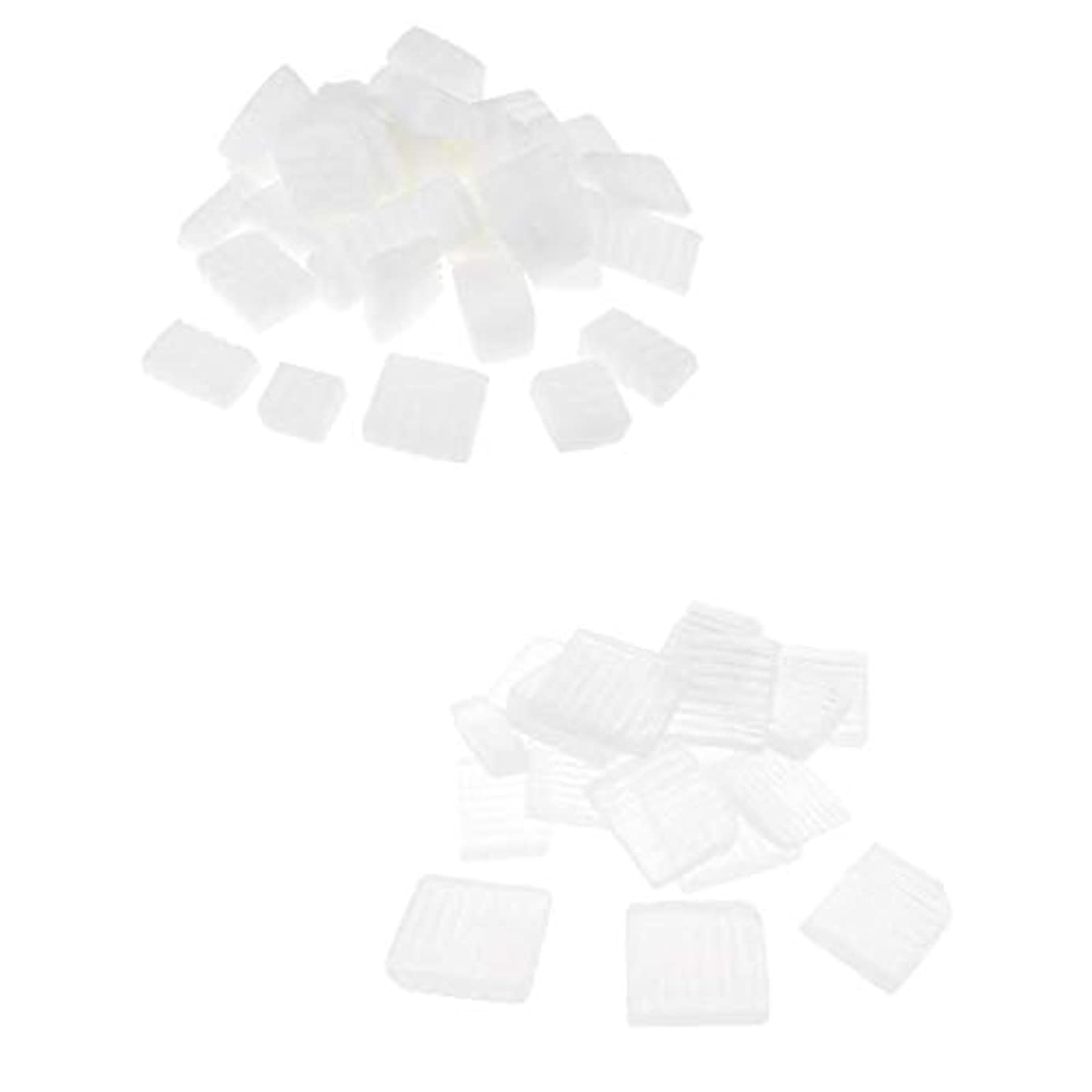 部族愛情するPerfeclan 固形せっけん ホワイト透明 手芸 バス用品 手作り ハンドメイド 石鹸製造 安全健康 2種混合